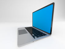 Ordinateur portable brillant moderne sur le blanc Images stock