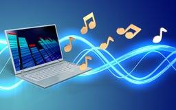 ordinateur portable d'ordinateur portable 3d Images libres de droits