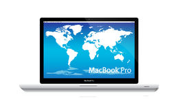 Ordinateur portable de macbook d'Apple pro Photographie stock