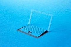 Ordinateur portable de papier Image libre de droits