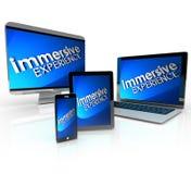 Ordinateur portable de Tablette de téléphone de dispositifs d'ordinateur d'expérience d'Immersive illustration libre de droits