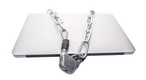 Ordinateur portable et chaînes VII photos libres de droits