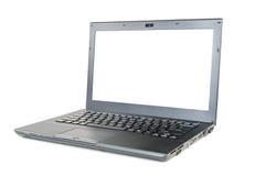 Ordinateur portable moderne avec l'écran vide Photographie stock