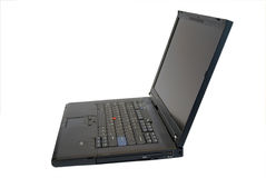 Ordinateur portable noir moderne Images stock