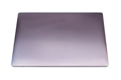 Ordinateur portable sur le fond blanc Images stock