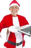 Ordinateur portatif aîné de fixation Image libre de droits