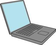 Ordinateur portatif avec l'écran blanc Image stock