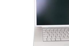 Ordinateur portatif avec l'écran blanc Photo libre de droits