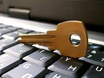 Ordinateur portatif avec la clé #3 Image stock