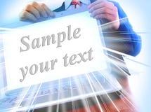 Ordinateur portatif avec un écran blanc Photo stock