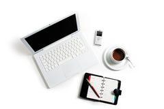 Ordinateur portatif blanc Image stock