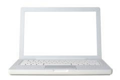 Ordinateur portatif blanc images stock
