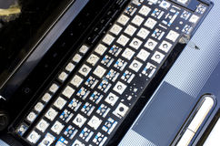 Ordinateur portatif cassé Photos libres de droits