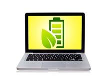 Ordinateur portatif d'Eco Photo libre de droits