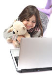 ordinateur portatif d'enfant Photos stock