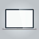Ordinateur portatif d'isolement sur le fond blanc Image libre de droits