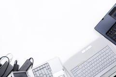 ordinateur portatif de encadrement Photographie stock libre de droits