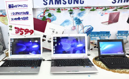 Ordinateur portatif de Samsung Images libres de droits