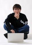 ordinateur portatif de type d'étage Images stock