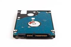Ordinateur portatif 2 disque dur de SATA de 5 pouces d'isolement sur un fond blanc Photos libres de droits