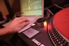 Ordinateur portatif - DJ 1 Photos libres de droits