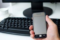Ordinateur portatif et téléphone portable Photo stock