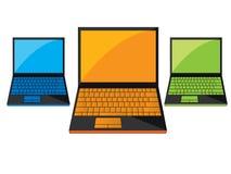 ordinateur portatif noir Photographie stock libre de droits
