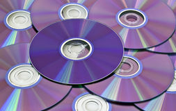ordinateur proche de Cd vers le haut Images libres de droits