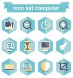 Ordinateur réglé d'icône Photos libres de droits
