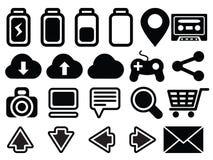 Ordinateur réglé de media d'icône Image libre de droits