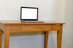 Ordinateur sur la table Photographie stock
