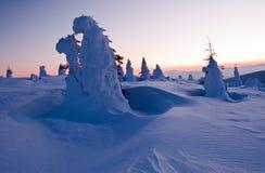 Ordinateurs de secours de neige - madaras de Harghita Image libre de droits