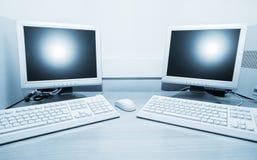 ordinateurs deux image stock