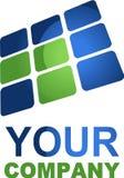 Ordinateurs et logo de pointe Images stock