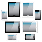 Ordinateurs et téléphones portables de tablette Image stock