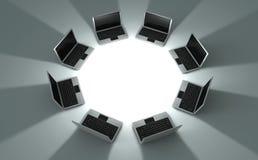 ordinateurs portatifs de cercle Images stock
