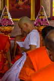 Ordination ceremony in buddhist Royalty Free Stock Photo