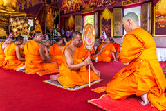 Ordination ceremony in buddhist Stock Photo