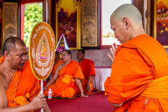 Ordination ceremony in buddhist Stock Photos