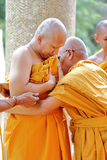 The ordination ceremony that change the Thai young men to be the Royalty Free Stock Photo