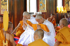 The ordination ceremony of the new monk Royalty Free Stock Photography