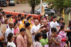 The ordination ceremony of the new monk Royalty Free Stock Photo