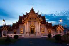 The Ordination Hall of Benchamabophit temple Royalty Free Stock Photo