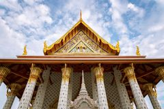 The Ordination Hall in Wat Arun, Bangkok, Thailand Stock Photo