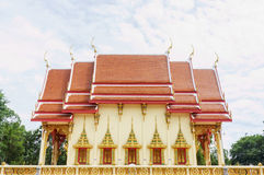 Ordination hall of the Wat PhuTonUTidSitThaRam Temple in surat t Stock Photo