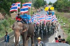 Ordination parade on elephant's back Festival. Royalty Free Stock Images