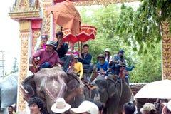 Ordination parade on elephant's back Festival. Royalty Free Stock Image