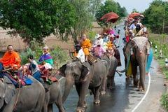 Ordination parade on elephant's back Festival. Royalty Free Stock Photos