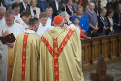 The Ordination of 15 Seminarians in to the Deaconate at Mynooth College on 1st June 2014 Royalty Free Stock Photography