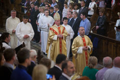 The Ordination of 15 Seminarians in to the Deaconate at Mynooth College on 1st June 2014 Stock Photos